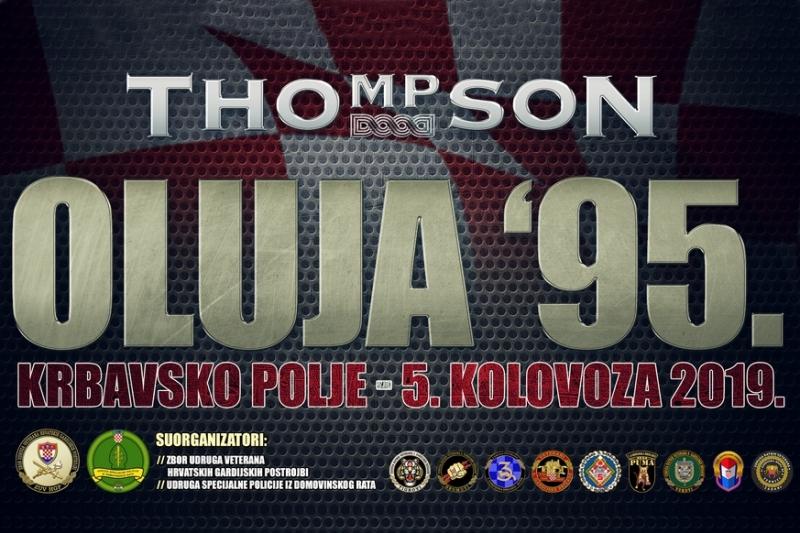 Oluja 95. - Krbavsko polje 5.8.2019. - Veliki koncert Marka Perkovića Thompsona