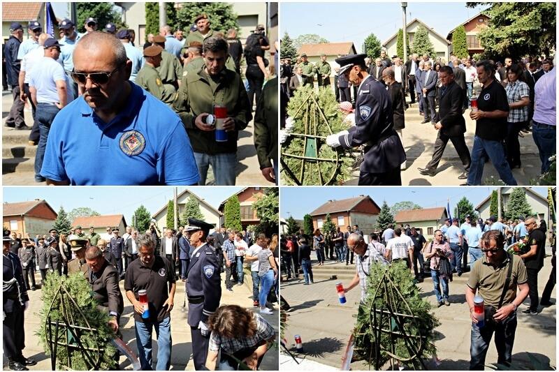 Sokolovi na 27. obilježavanju obljetnice ubojstva 12 hrvatskih redarstvenika u Borovu Selu