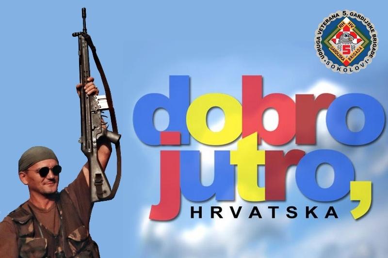 """Dobro jutro, Hrvatska -  Gost u emisiji predsjednik Udruge veterana 5. gardijske brigade """"Sokolovi"""" Zoran Marunček"""