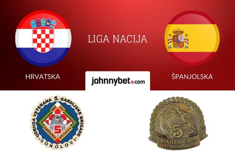 """Obavijest veteranima 5. gardijske brigade Sokolovi"""" u vezi ulaznica za utakmicu Hrvatska - Španjolska"""