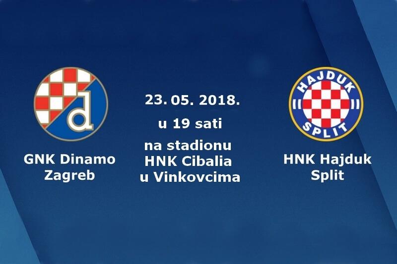 """Obavijest u vezi ulaznica za finalnu utakmicu nogometnog kupa RH, između GNK """"Dinamo"""" i HNK """"Hajduk"""""""